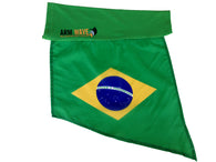 "BRAZIL ARM and FOOT FLAG, for sale! purchase ONE DOZEN (12) ""Wholesale"""