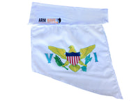 "Virgin Island Arm and Leg Flag (Arm Band, Foot Sleeve) Purchase One Dozen (12) ""Wholesale"""