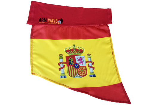 Spain Arm and Leg Flag Sleeve for sale! Purchase One Dozen (12) Wholesale