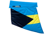 "BAHAMAS Arm Sleeve FLAG, for sale! Purchase ONE DOZEN (12), ""WHOLESALE"" for $7.00 each"