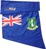 BRITISH VIRGIN ISLAND ARM and FOOT FLAG (Celebrity sleeve flags)