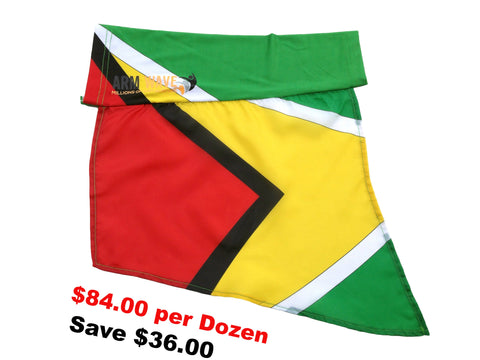 GUYANA ARM and LEG FLAG, for sale! Purchase ONE DOZEN (12) Wholesale