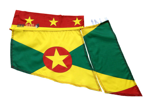 GRENADA WAVE FLAG, for sale! purchase ONE DOZEN (12), Wholesale