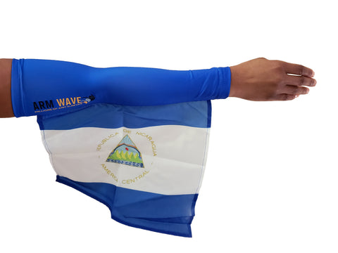 NICARAGUA ARM and LEG FLAG (Sleeve/Band) new celeb cheering instrument