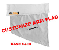 "CUSTOMIZE 100 ARM and FOOT FLAG ""WHOLESALE"""