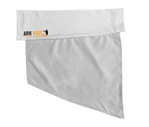 Plain white Arm Wave arm sleeve for customization (printing, drawing, painting or writing)