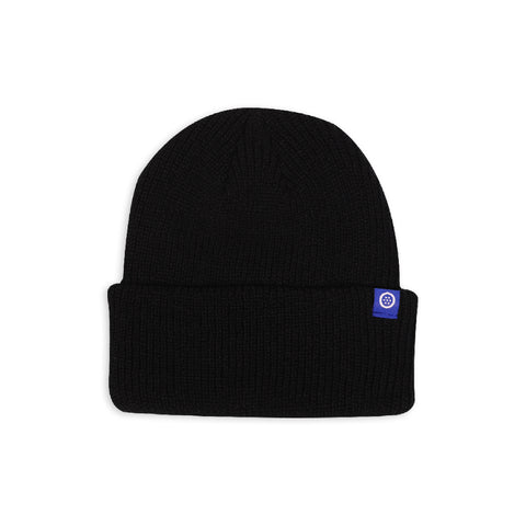 Outset Deep Cuff Beanie - Black/Blue