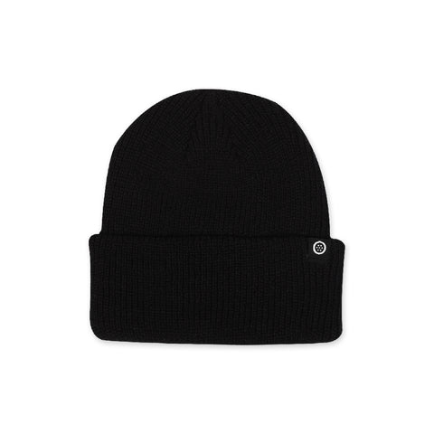 Outset Deep Cuff Beanie - Black/Black