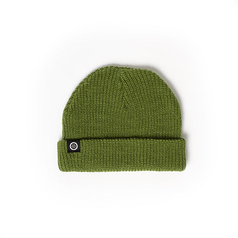 Outset Short Stack Beanie - Army Green