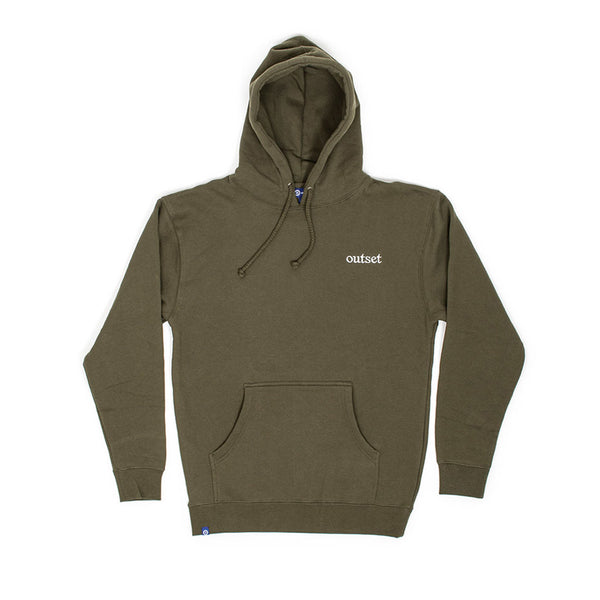 Outset Logo Hoodie - Army Green