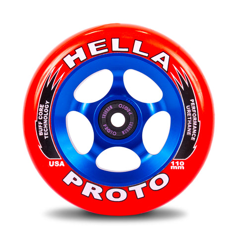 HELLA X PROTO Collab Gripper Wheels 110mm - Red/Blue