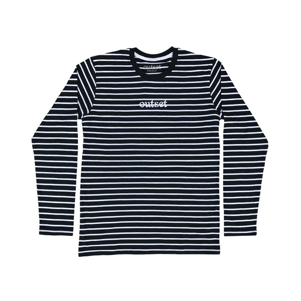 Outset Striped Longsleeve - White/Navy