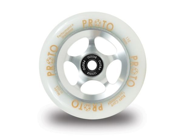 PROTO Gripper Wheels [White on Silver]