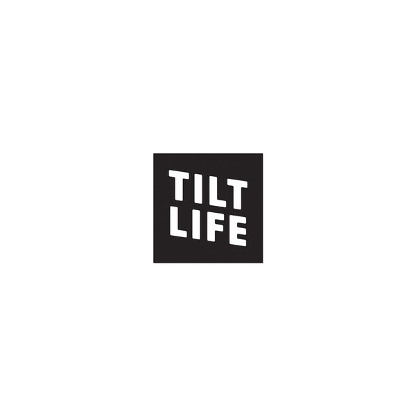 TILT Stacked Life Sticker - Black