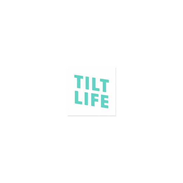 TILT Stacked Life Sticker - Teal