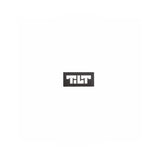 Tilt Block Logo Shop Sticker - Black
