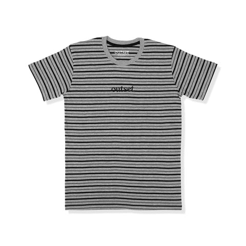 Outset Striped Shortsleeve Tee - Grey