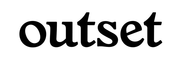 Outset Basic Die Cut Sticker - Black