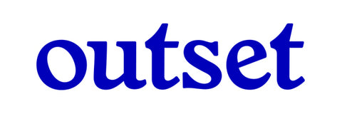 Outset Basic Die Cut Sticker - Blue