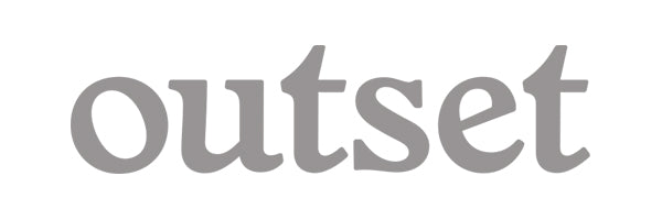 Outset Basic Die Cut Sticker - Silver