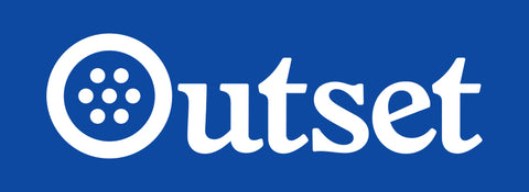 Outset Box Logo Sticker - Blue