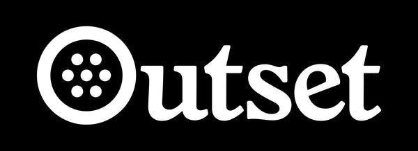 Outset Box Logo Sticker - Black