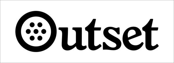 Outset Box Logo Sticker - White