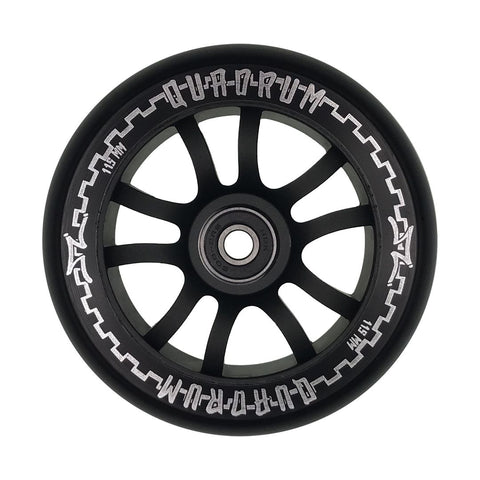 AO Quadrum 115mm x 24mm Wheels - Black