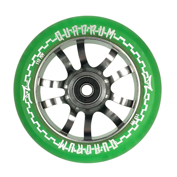 AO Quadrum 115mm x 24mm Wheels - Green