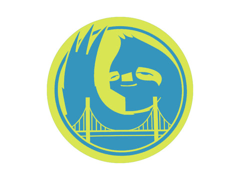 Hella Grip - Bridge Sloth Sticker - Yellow