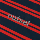 Outset Striped Shortsleeve Tee - Red / Navy