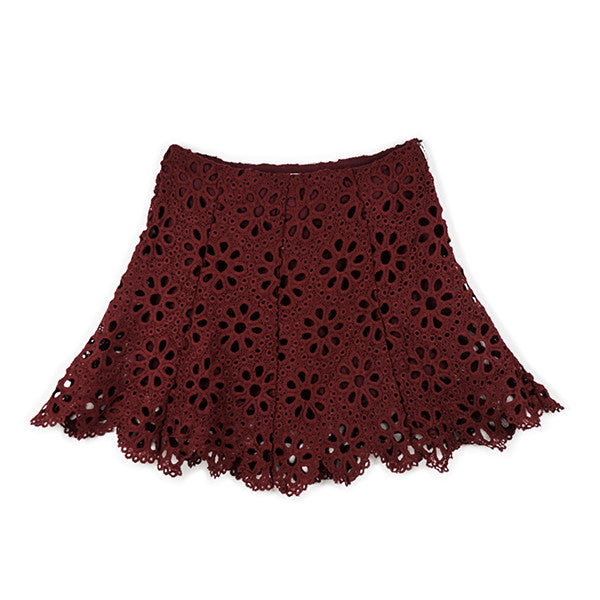 Desire Lace Skirt (Wine)