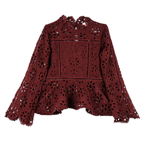 Desire Lace Top (Wine)