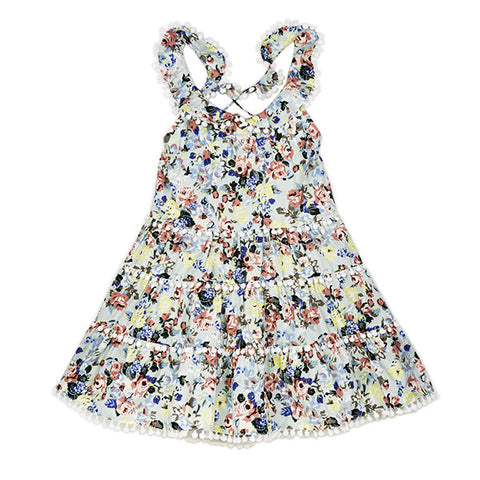 Floral Cotton Frilly Dress
