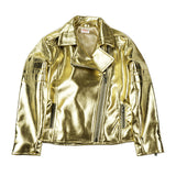 Gold PU Leather Jacket