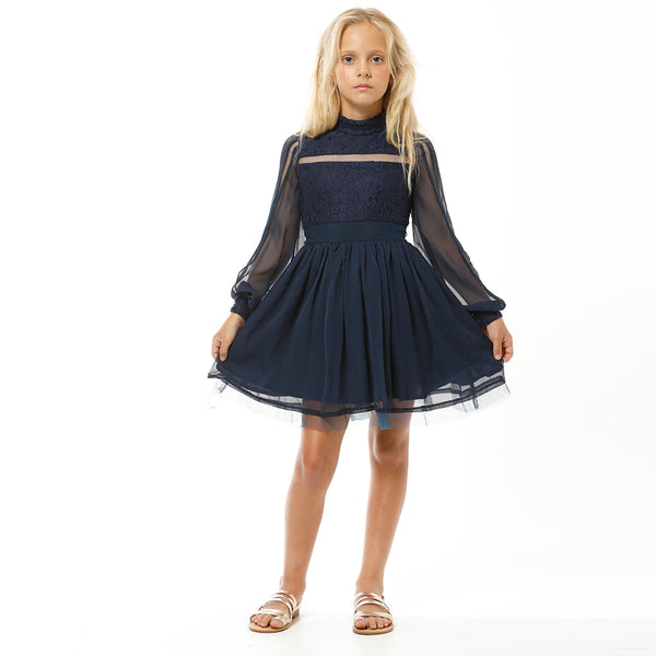 NOVELLA DRESS (NAVY)