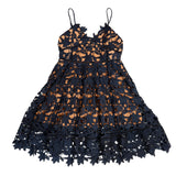 Cherry Blossom Dress (Navy)