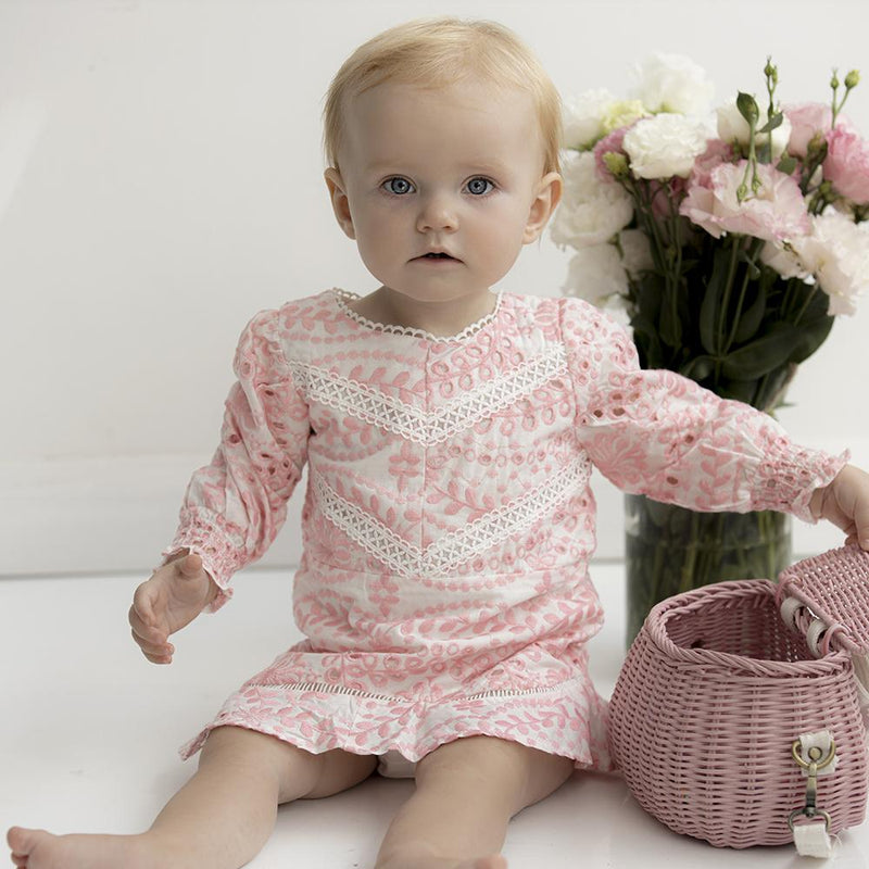 Penelope Embroidered Dress Baby Marlo Kids