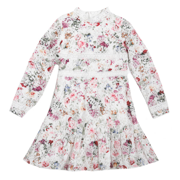Gabriella Embroidered Dress (Floral)