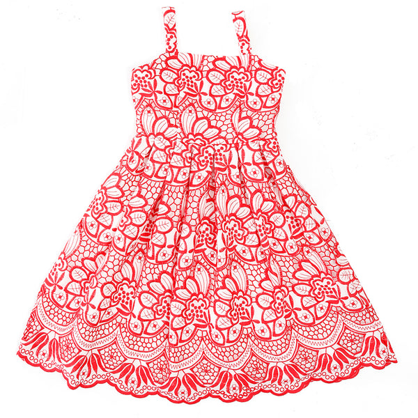 Love Peace & Joy Dress (Red)