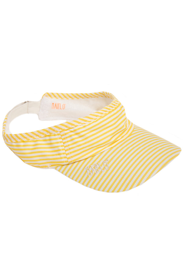 Amalfi Stripe Visor (Yellow Stripe)