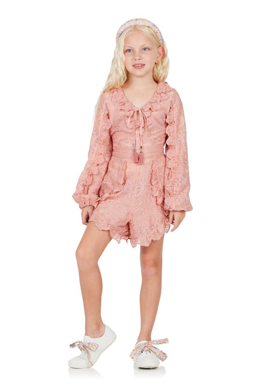 Ravello Lace Romper (Pink)