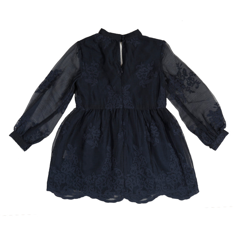 Campbell Lace Mini Dress (Navy)