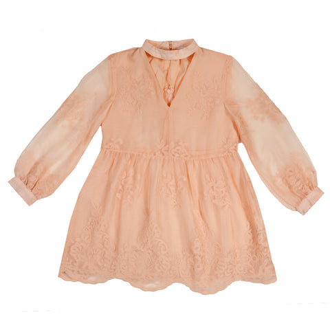 Campbell Lace Mini Dress (Blush)