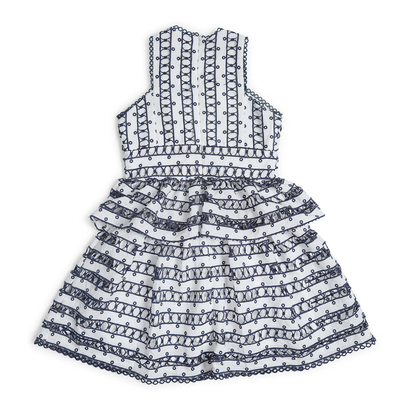 MONTARNA DRESS (NAVY/IVORY)