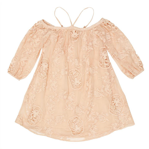 Peach Blossom Lace Dress