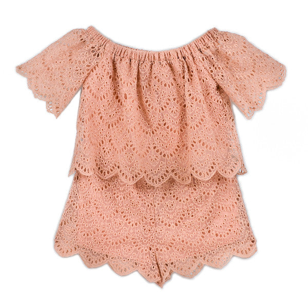Dusk Playsuit (Coral)