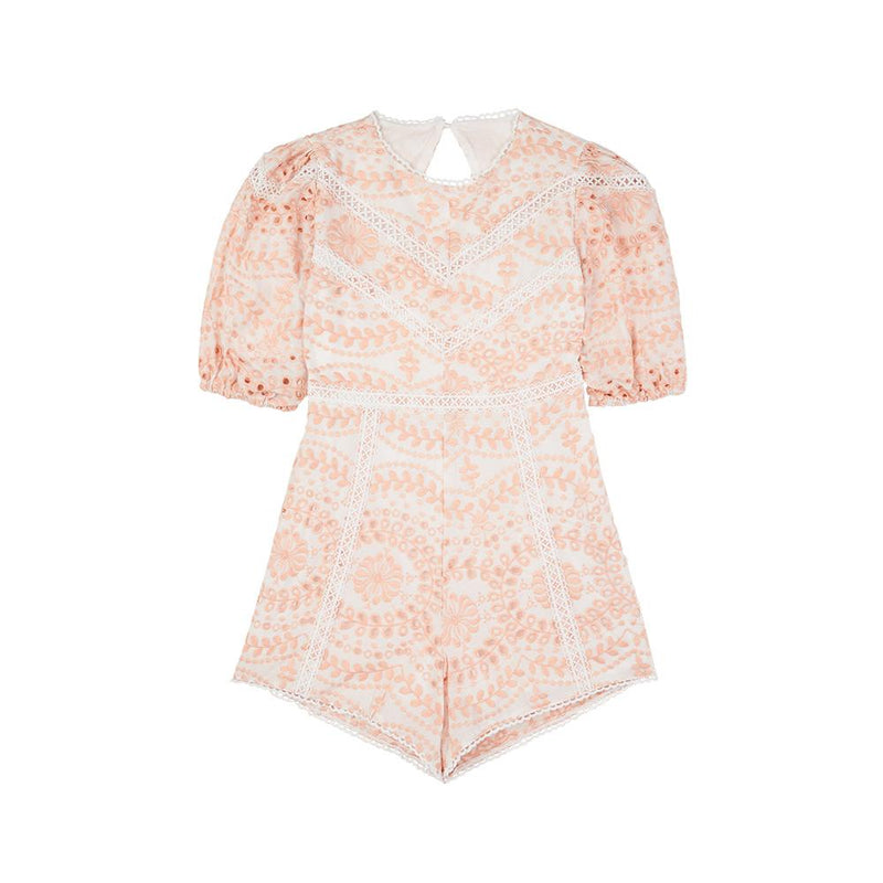 Penelope Embroidered Romper Marlo Kids