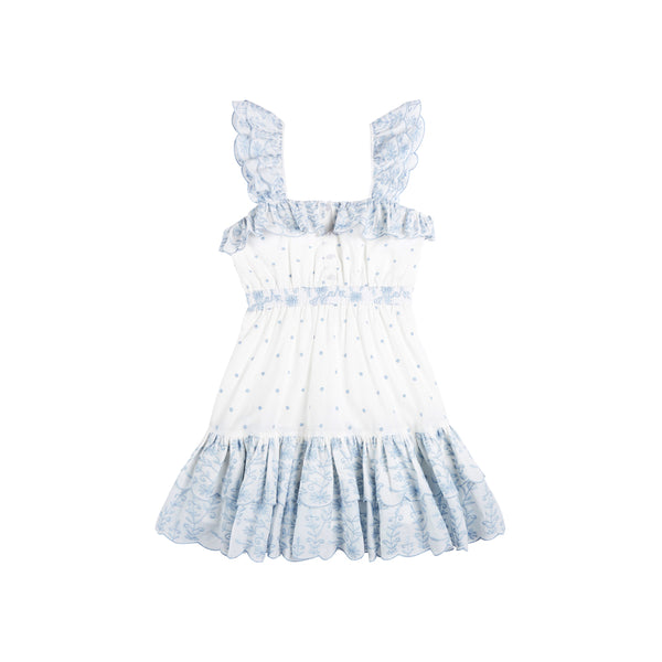 ROSIE EMBROIDERED DRESS (WHISPER BLUE)