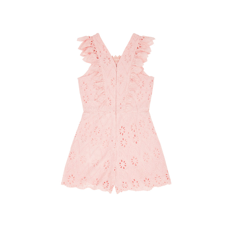 NEVE COTTON ROMPER (DUSTY PINK)